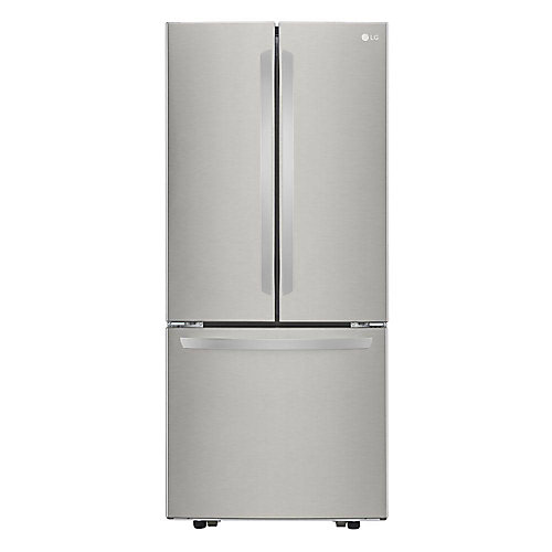 30-inch W 22 cu. ft. 3-Door French Door Refrigerator with Smart Cooling in Stainless Steel - ENERGY STAR®