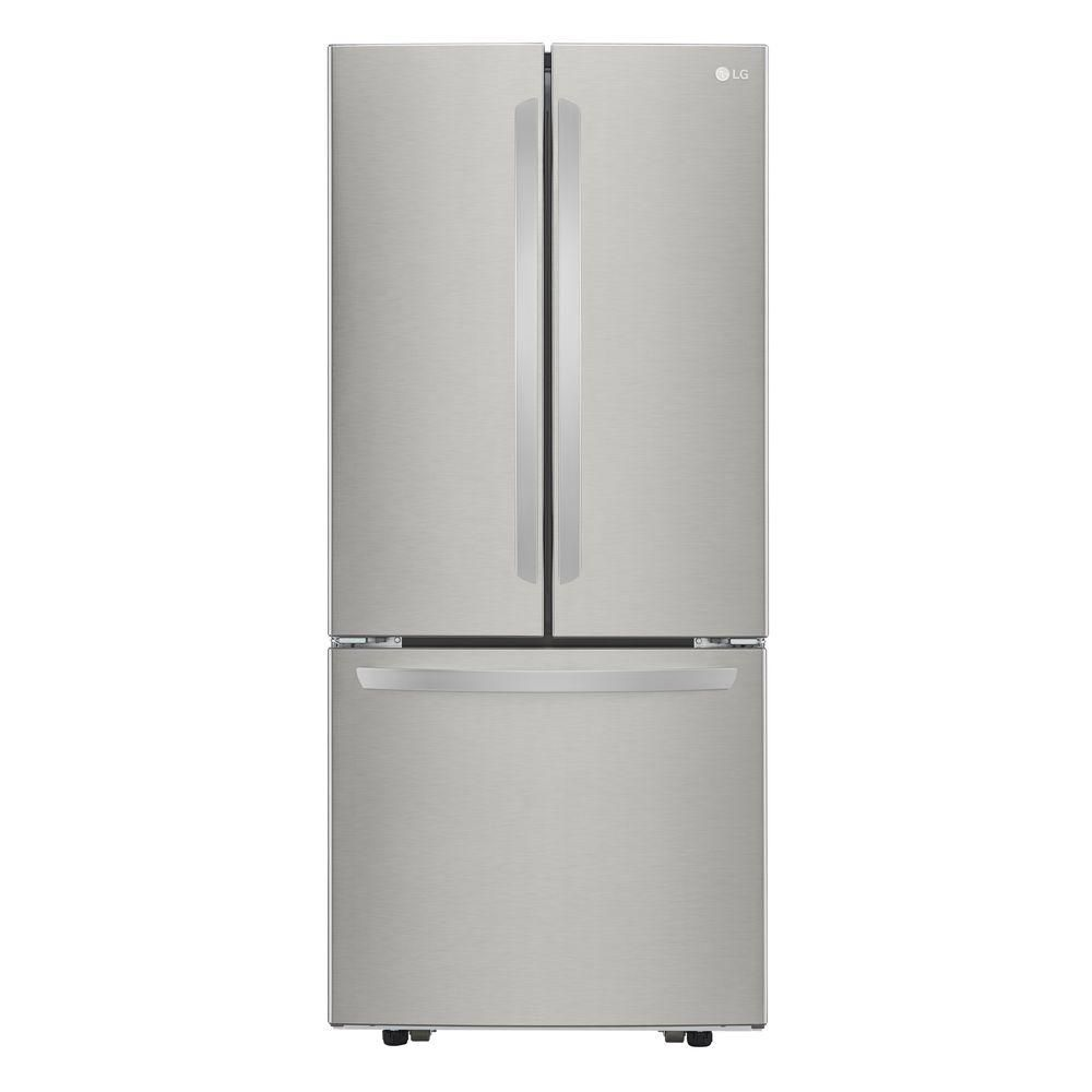 LG Electronics 22 cu. ft. 3-Door French Door Refrigerator with Smart Cooling in Stainless Steel - ENERGY STAR®