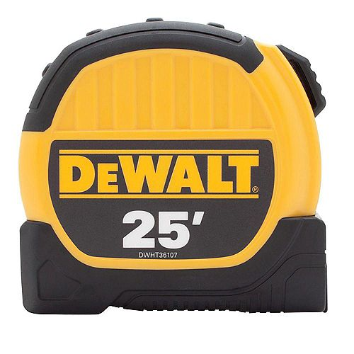 DEWALT 25 ft. x 1-18-inch Tape Measure