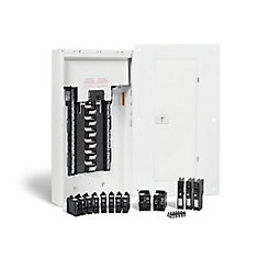100 Amp, 24 Spaces/48 Circuits Max. Arc Fault Plug-on Neutral Panel Package with Breakers
