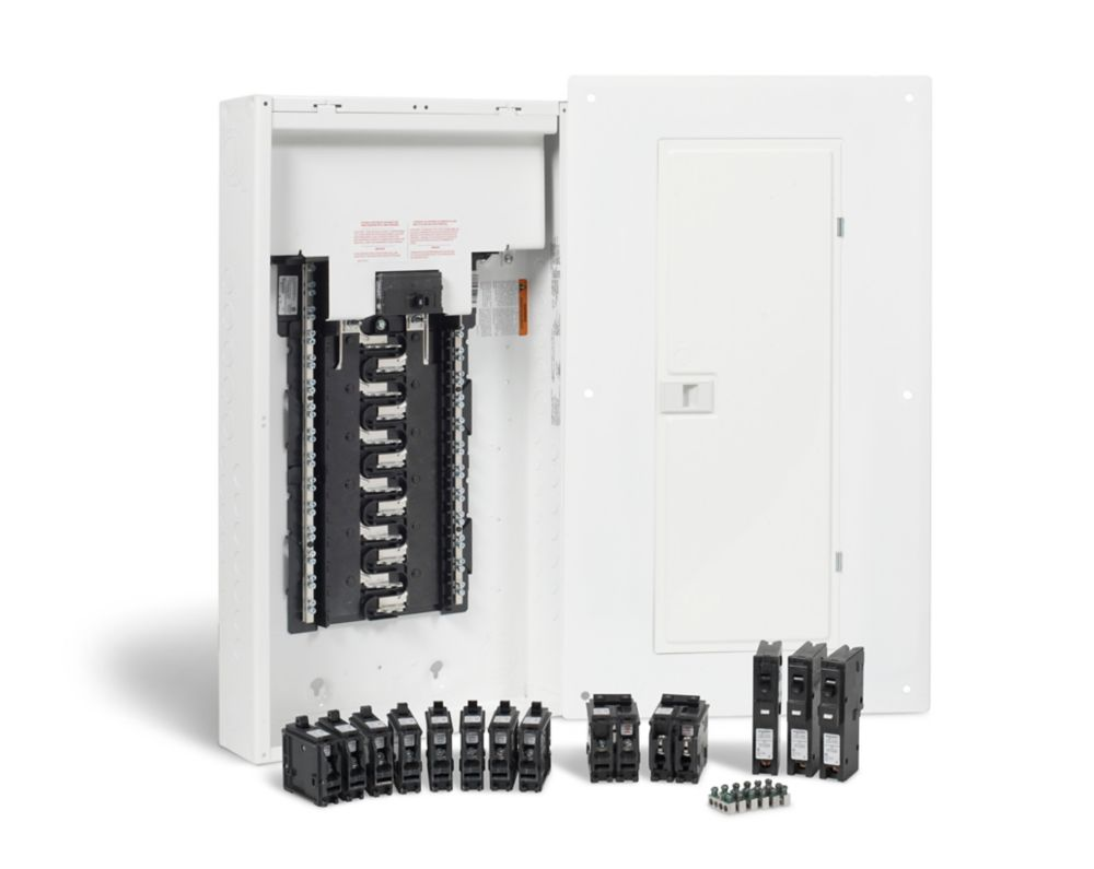 HomeLine 100 Amp, 24 Spaces/48 Circuits Max.  Arc Fault Plug-on Neutral Panel Package with Breakers