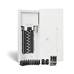 HomeLine 100A, 30 espaces - ensemble dun panneau anti-arcs HomeLine avec neutre enfichable et disjoncteurs