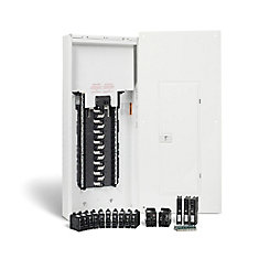 100 Amp, 30 Spaces/60 Circuits Max. Arc Fault Plug-on Neutral Panel Package with Breakers
