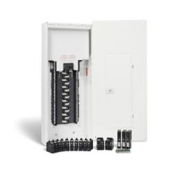 HomeLine 100 Amp, 30 Spaces/60 Circuits Max. Arc Fault Plug-on Neutral Panel Package with Breakers
