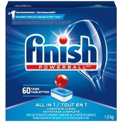 Finish Dishwasher Detergent, All in 1 Powerball, Fresh, 60 Tablets, Fast Action Clean