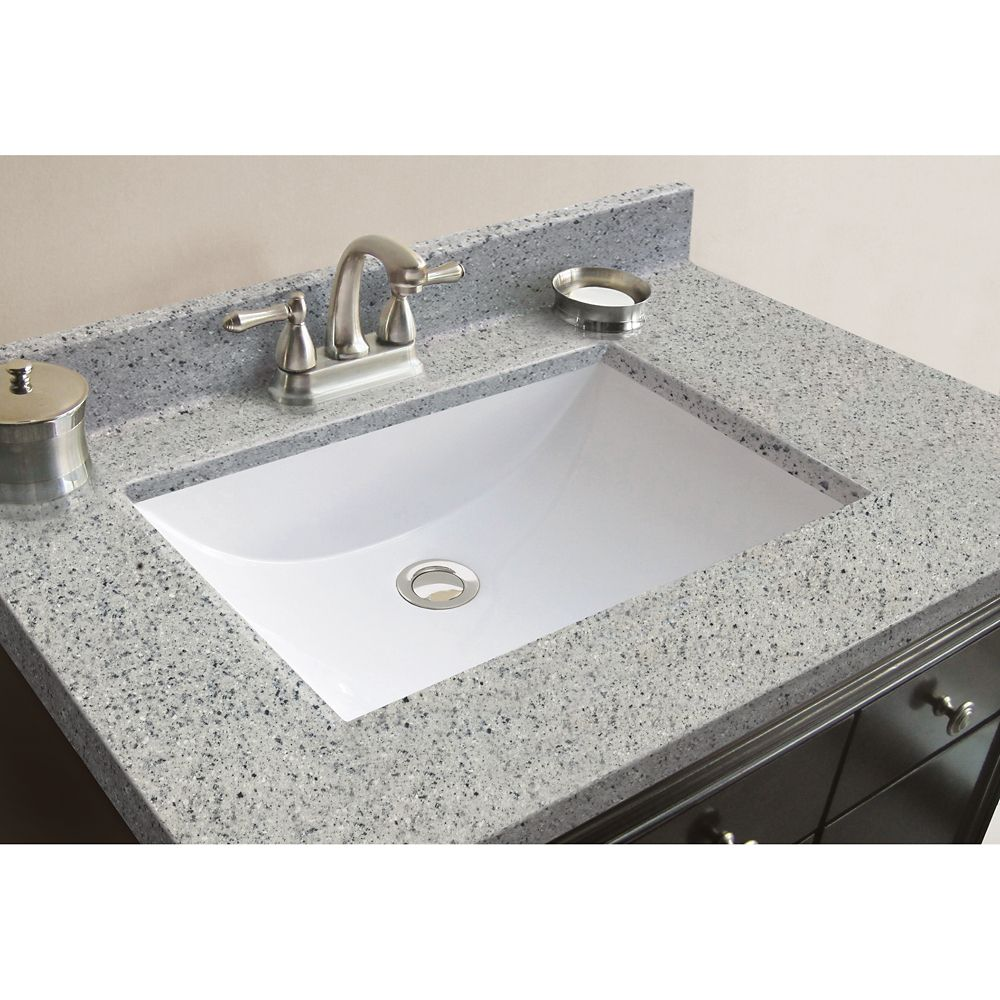 Magick Woods 31-Inch W x 22-Inch D Granite Vanity Top in Napoli with Wave Bowl
