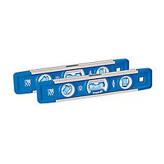True Blue 9 inch Professional Torpedo Level (2-Pack)