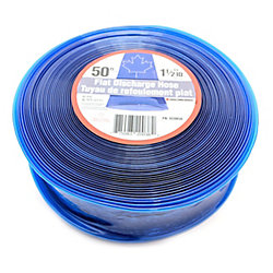 CANADA TUBING Flat Discharge Hose, 1 1/2 Inch Inside Diameter X 50 Ft Roll