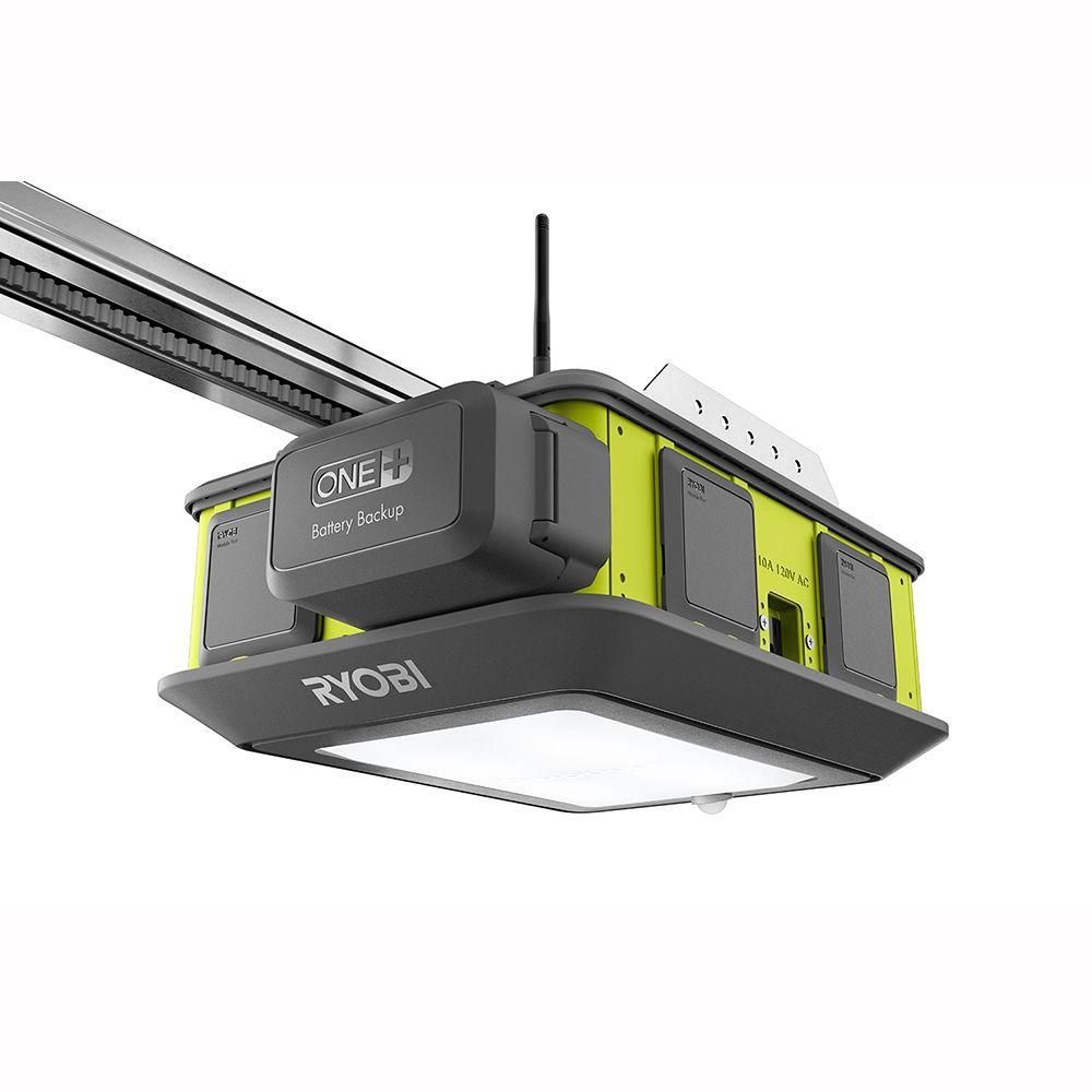 Ryobi Ultra Quiet 2 Hp Garage Door Opener The Home Depot