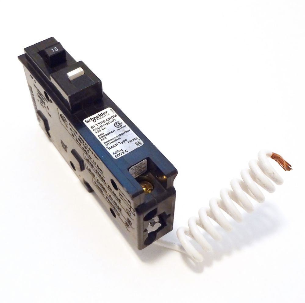 Single Pole 15 Amp  Combination Arc Fault Pigtail Circuit Breaker