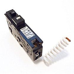HomeLine Disjoncteur à fil spiralé combiné anti-arcs unipolaire de 15 A HomeLine