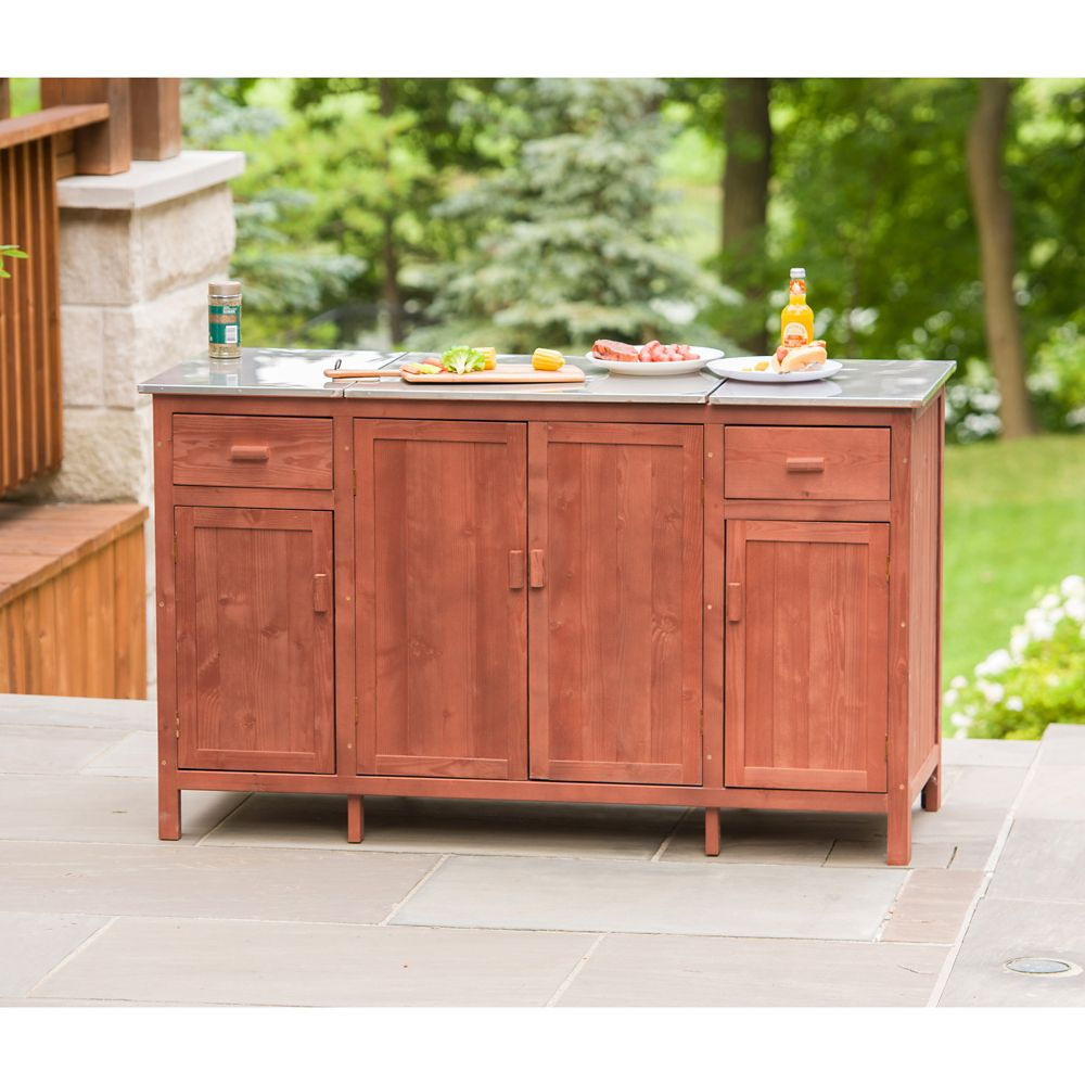 Leisure Season Patio Buffet Server with Cooler Compartment