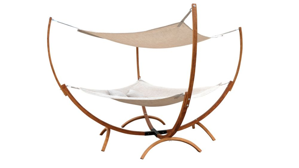 Square Hammock Stand With Hammock and Canopy