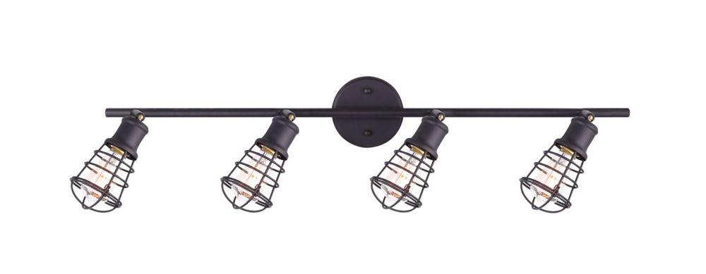 Loft 4-Light ORB Track Light With Metal Cage