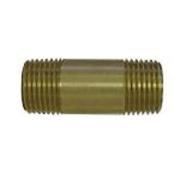 Sioux Chief 1/4 inch x 4 inch Lead-Free Brass Pipe Nipple