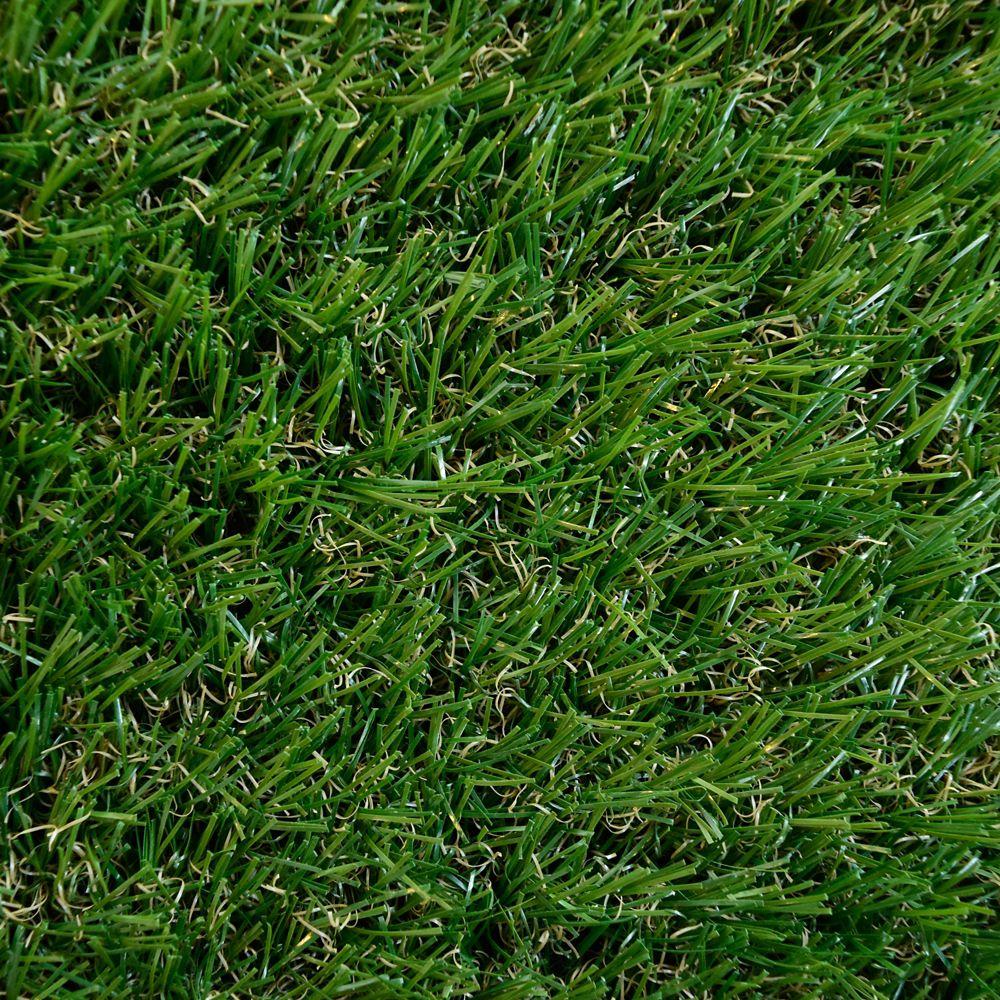 Green Grass Shag Indoor/Outdoor Area Rug 8 Feet x 10 Feet