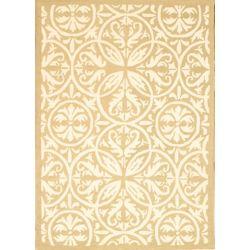 Lanart Rug Carpette d'intérieur/extérieur, 5 pi x 7 pi, style contemporain, rectangulaire, havane Fret Work