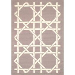 Lanart Rug Lattice Beige Tan 5 ft. x 7 ft. Indoor/Outdoor Contemporary Rectangular Area Rug