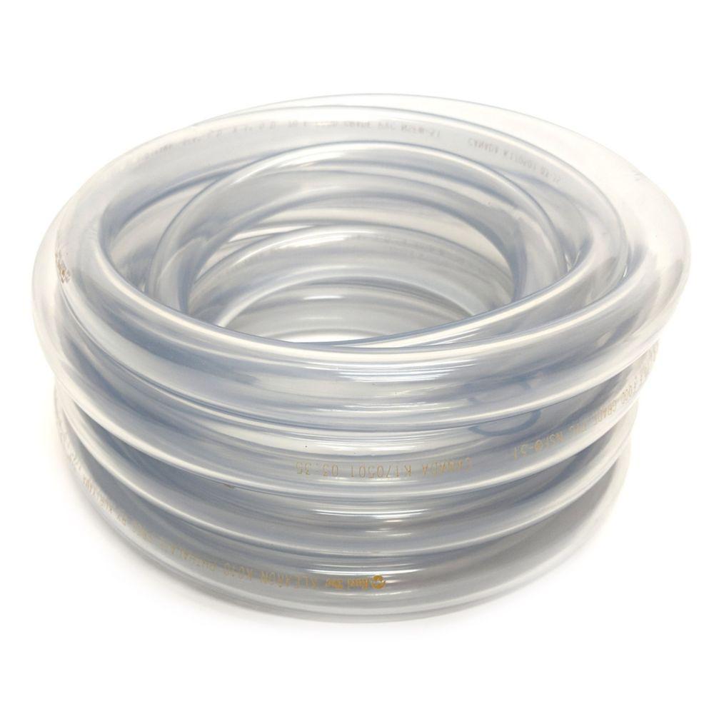 3mm 1/8 x 1.5mm Wall Clear Plastic Flexible Non Toxic PVC Hose Tubing 10 Mtr