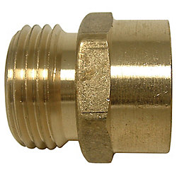 Sioux Chief 3/4 inch FHT Adapter X 3/4 inch MHT 90 Elbow Swivel Brass