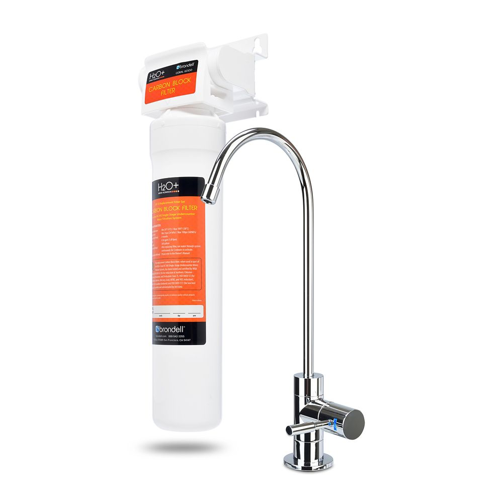 H2O+ Coral 1-Stage Undercounter Water Filtration System