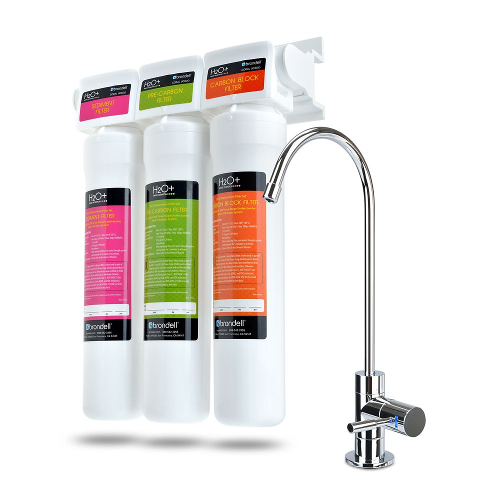 H2O+ Coral 3-Stage Undercounter Water Filtration System