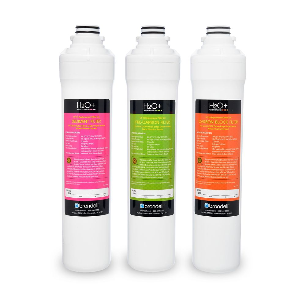 H2O+ Coral 3-Stage Replacement Filter Set (3 Filters)