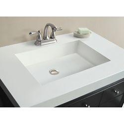 Magick Woods Dessus blanc de 93,98 cm [37 po] larg. x 55,88 cm [22 po] prof. avec lavabo rectangulaire