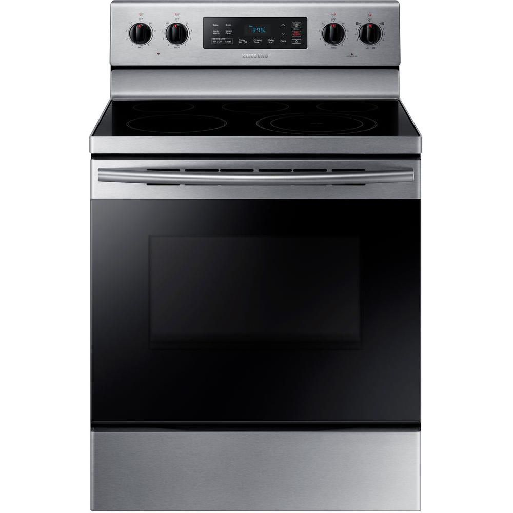 Samsung 5.9 cu.ft. Free-Standing Electric Range with Wide-View Window in Stainless Steel