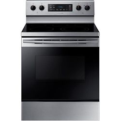 Samsung 30-inch 5.9 cu. ft. Single Oven Electric Range with Self-Cleaning in Stainless Steel