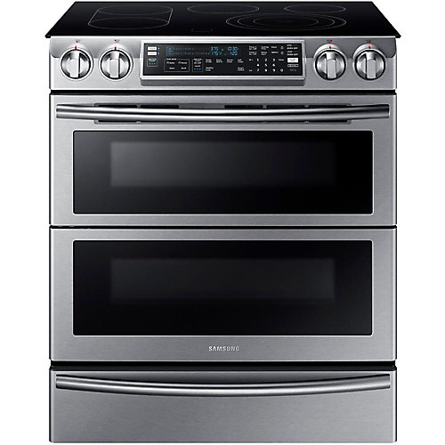 5.8 cu.ft. Double Oven Electric Range with Self-Cleaning and Wi-Fi in Stainless Steel