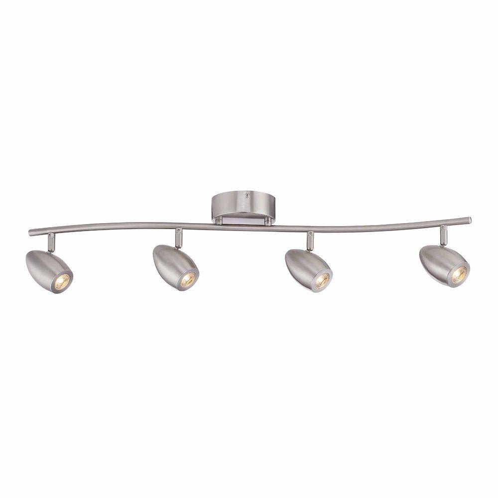 Hampton Bay 4 Head LED Track Lighitng Kit, Curved Track Brushed Nickel Finish - ENERGY STAR®