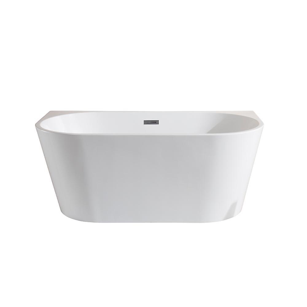 5 ft. Mansfield White Acrylic Seamless Freestanding Bathtub