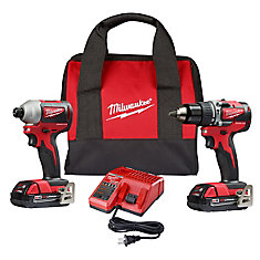 M18 18V Lithium-Ion Cordless Hammer Drill / Impact Driver Combo Kit (2-Tool) with (2) Batteries