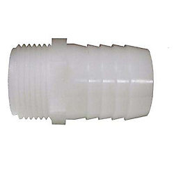 Sioux Chief Adapter 3/4 inch Barb X 3/4 inch Male Fitting Plastic 1/Bg