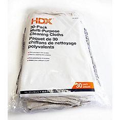 Paquet de 30 chiffons de nettoyage polyvalents
