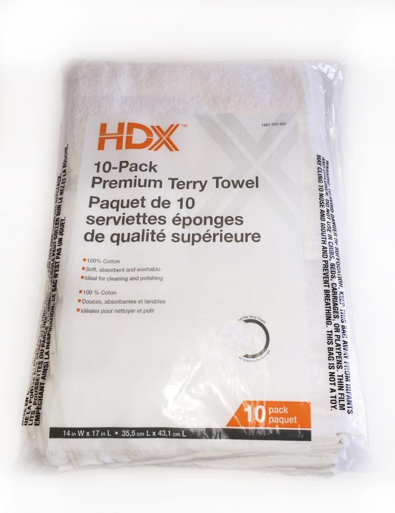 Paquet de 10 serviettes eponges de qualite superieure