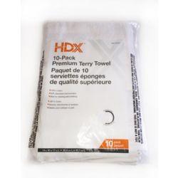 HDX Paquet de 10 serviettes eponges de qualite superieure