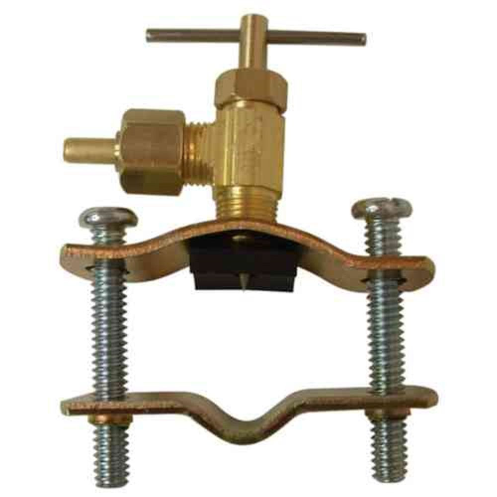 Sioux Chief 1/4 inch x 1/4 inch Lead-Free Brass Compression x Compression Self-Tapping Saddle Valve
