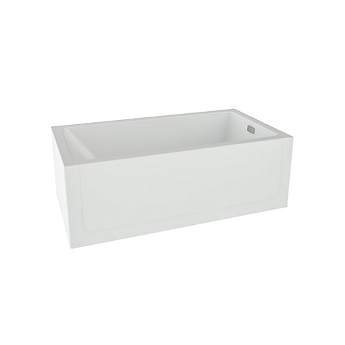 Layla Acrylic Right-Hand Skirted Soaker Bathtub in White