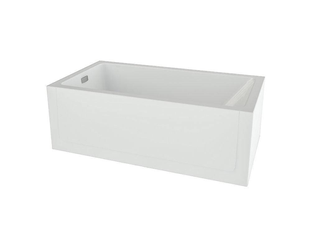 Layla - Baignoire de bain avec jupe à gauche en blanc