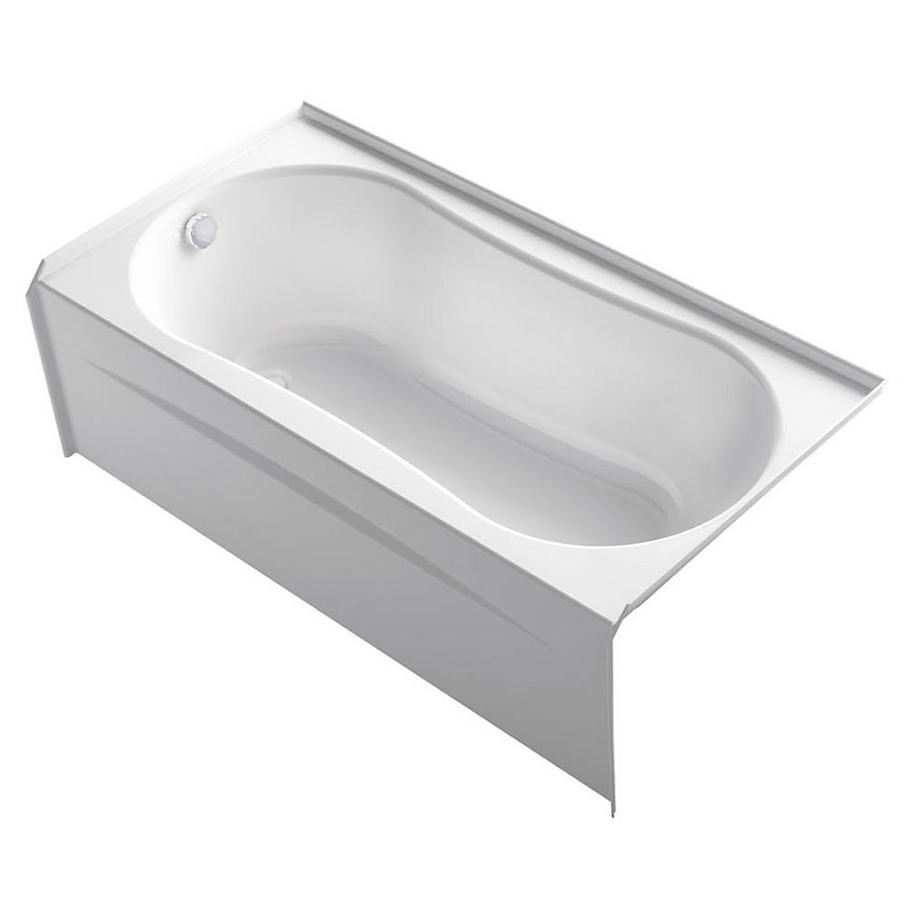 """Submerse® 60"""" x 31"""" alcove bath with integral flange and right-hand drain"""