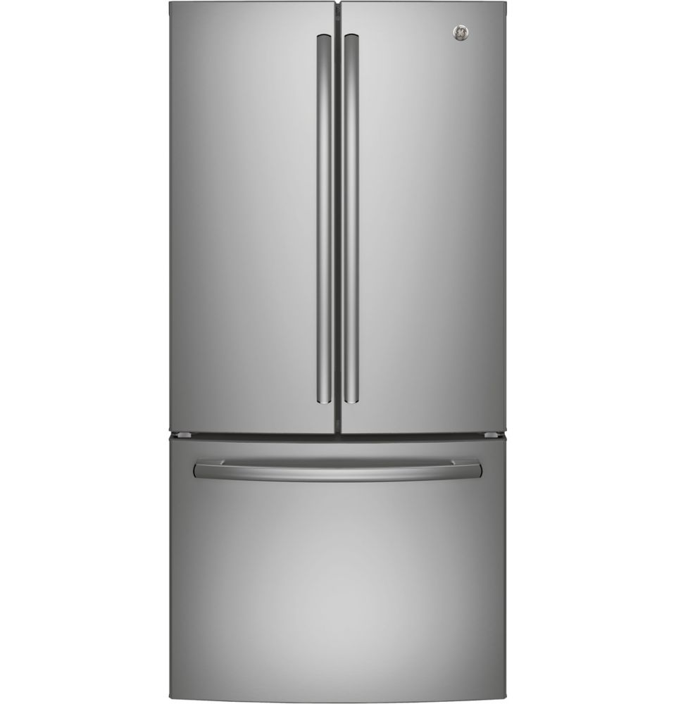 GE 33-inch W   24.8 cu. ft. French Door Refrigerator in Stainless Steel - ENERGY STAR®