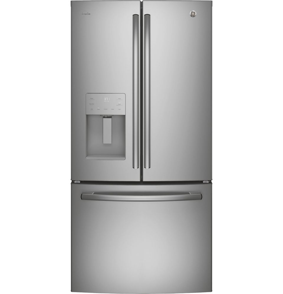 Profile 23.5 cu. ft. French Door Refrigerator with External Ice and Water Dispenser
