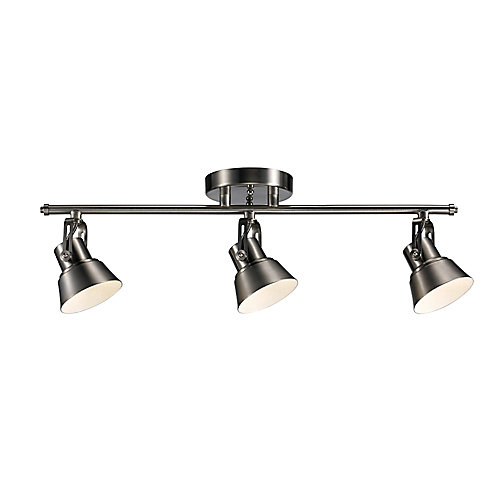 3-Light LED Directional Ceiling Track Light in Brushed Nickel - ENERGY STAR®