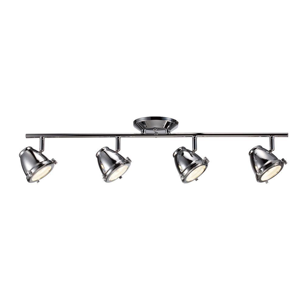 Eclairagesur rail orientable a 4 ampoules DEL