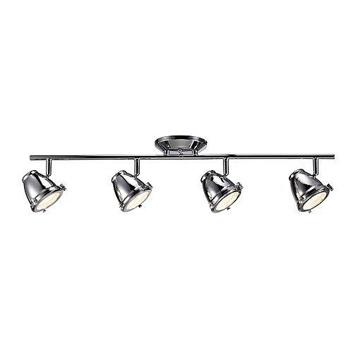 Hampton Bay 4-Light Integrated LED Directional Track Light in Chrome - ENERGY STAR®