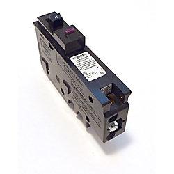 HomeLine Disjoncteur à neutre enfichable double fonction AFI/GFI unipolaire de 15 A HomeLine