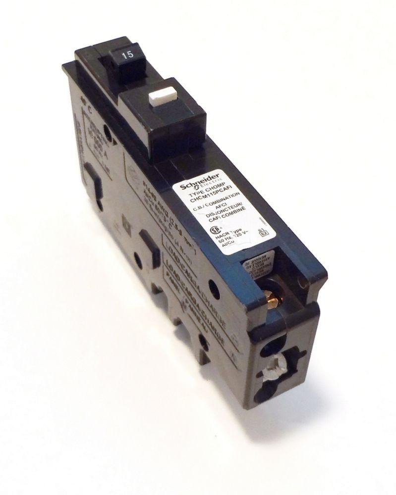 Disjoncteur à neutre enfichable anti-arcs combiné unipolaire de 15 A HomeLine