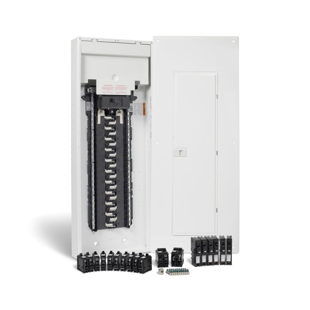 HomeLine 200 Amp, 42 Spaces/84 Circuits Max. Arc Fault Plug-on Neutral Panel Package with Breakers